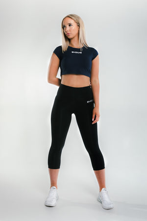 Signature Crop Top - Navy Blue