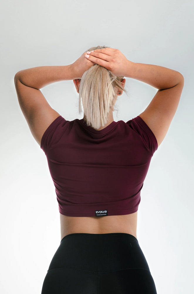 Load image into Gallery viewer, Signature Crop Top - Burgundy