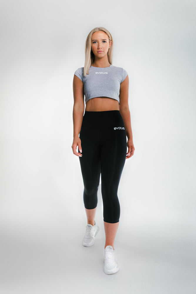 Signature Crop Top - Grey