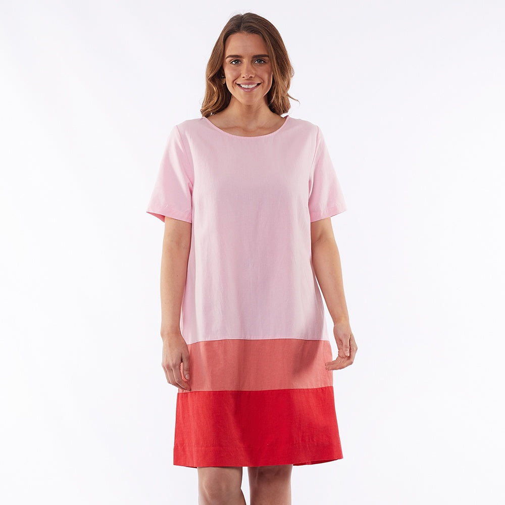 Elm Lifestyle - Rosie panel dress - Ombre pink