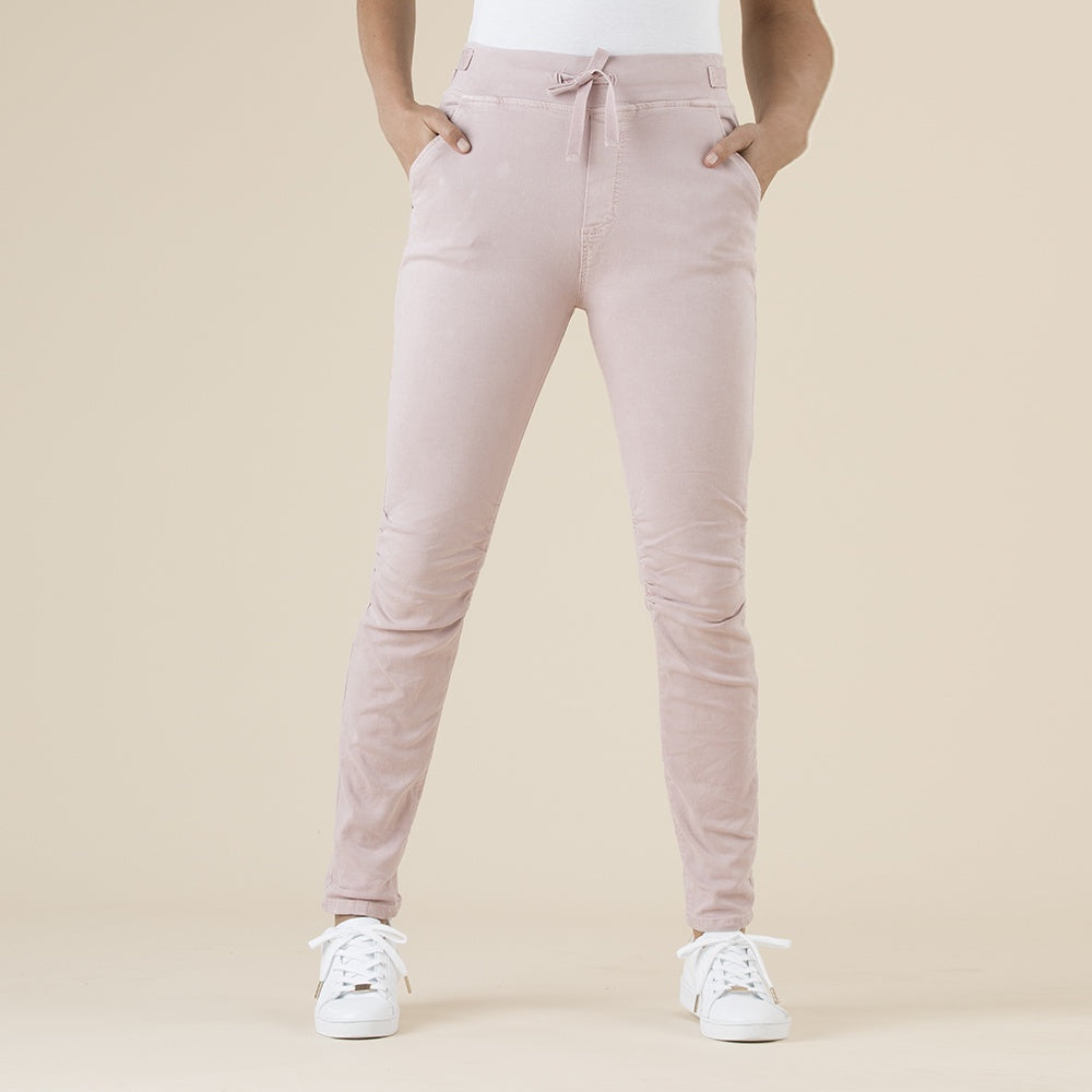 Threadz - Tie front gathered jeans - Pink