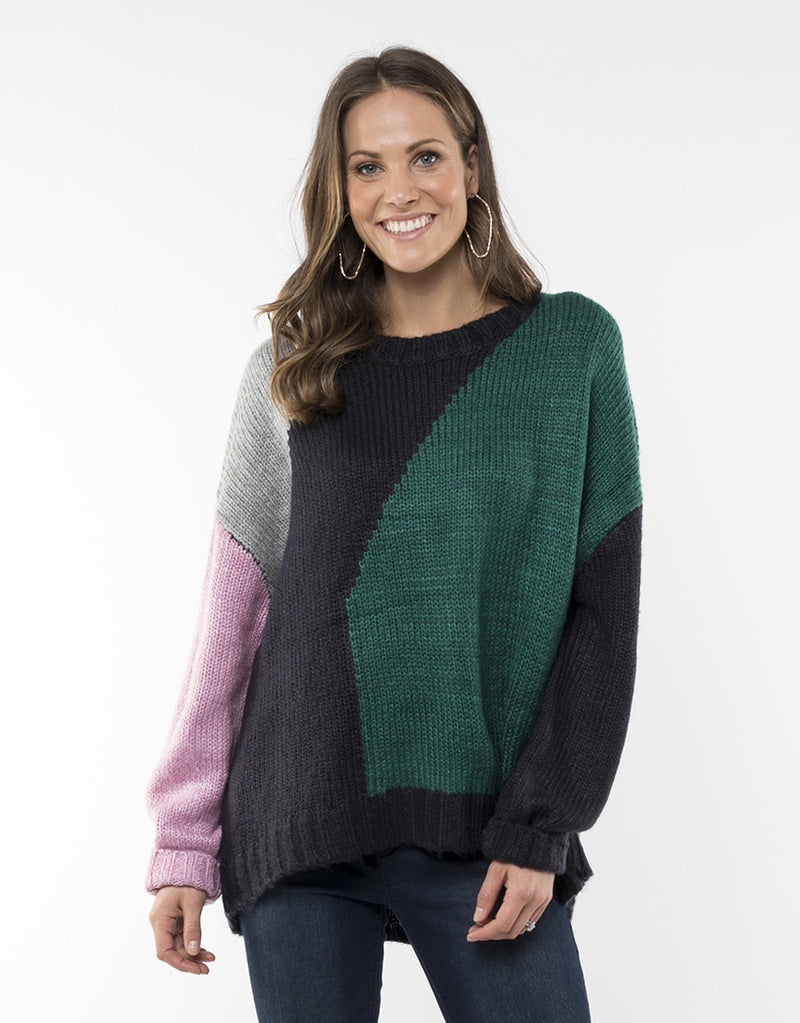 Elm Lifestyle - Making waves knit - Multi