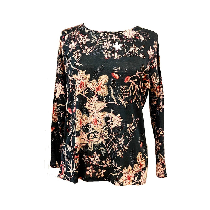 Jump - Long sleeve tapestry floral tee - Multi