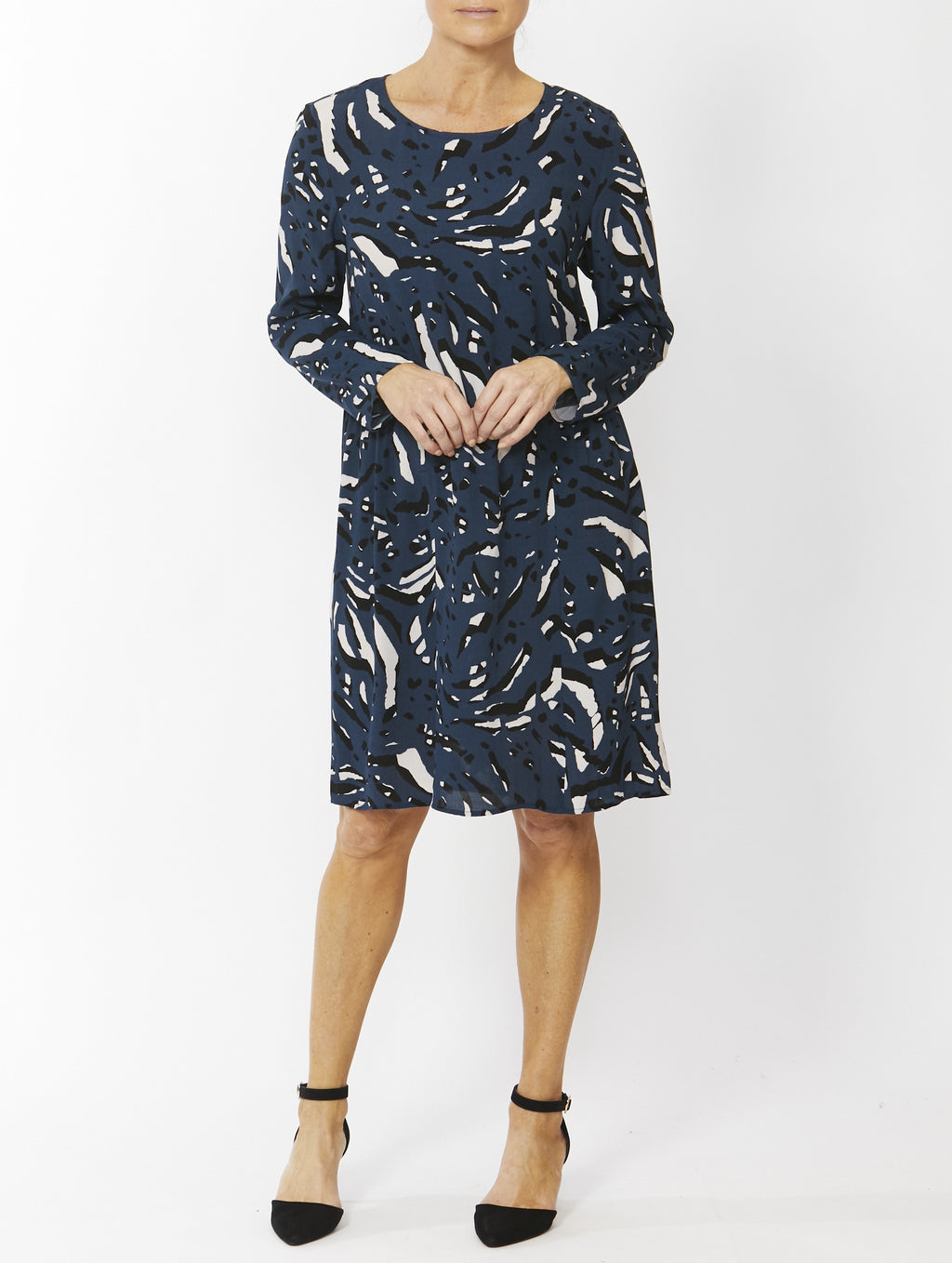 Ping Pong - Pop Art print dress - Navy
