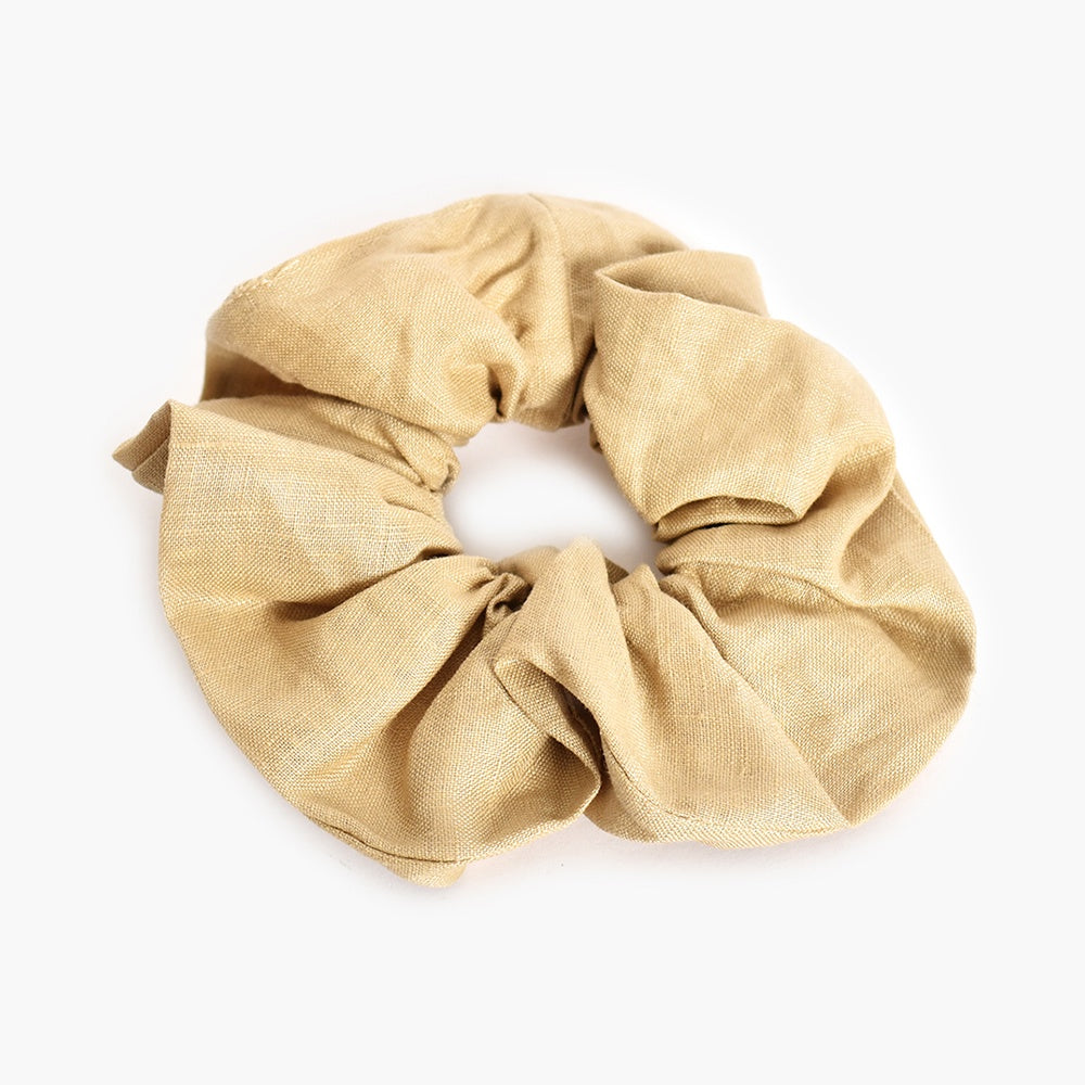 Adorne - Linen scrunchie - Natural