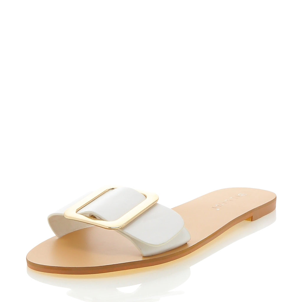 Billini - Elias buckle slide shoe - White