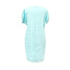 Ping Pong - Drop shoulder fringe linen dress - Turquoise