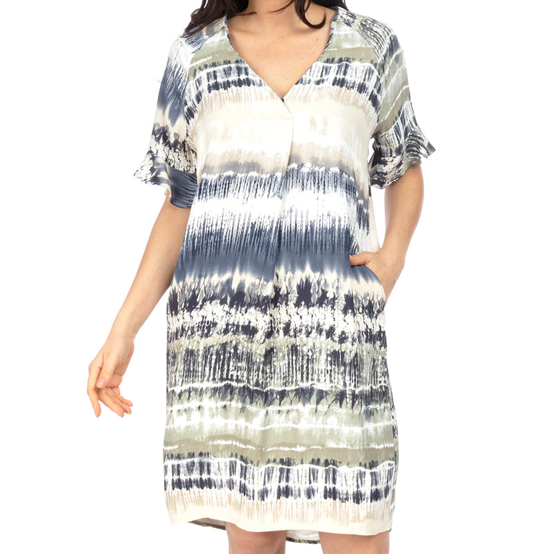 Ping Pong - Ruffle sleeve dress - Tie dye