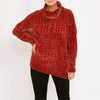 Ping Pong - Chenille cable pullover - Burnt orange