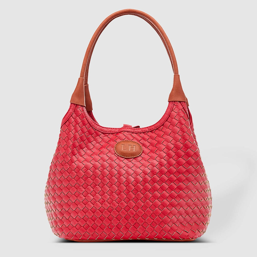LouenHide - Poppet plaid bag - Raspberry