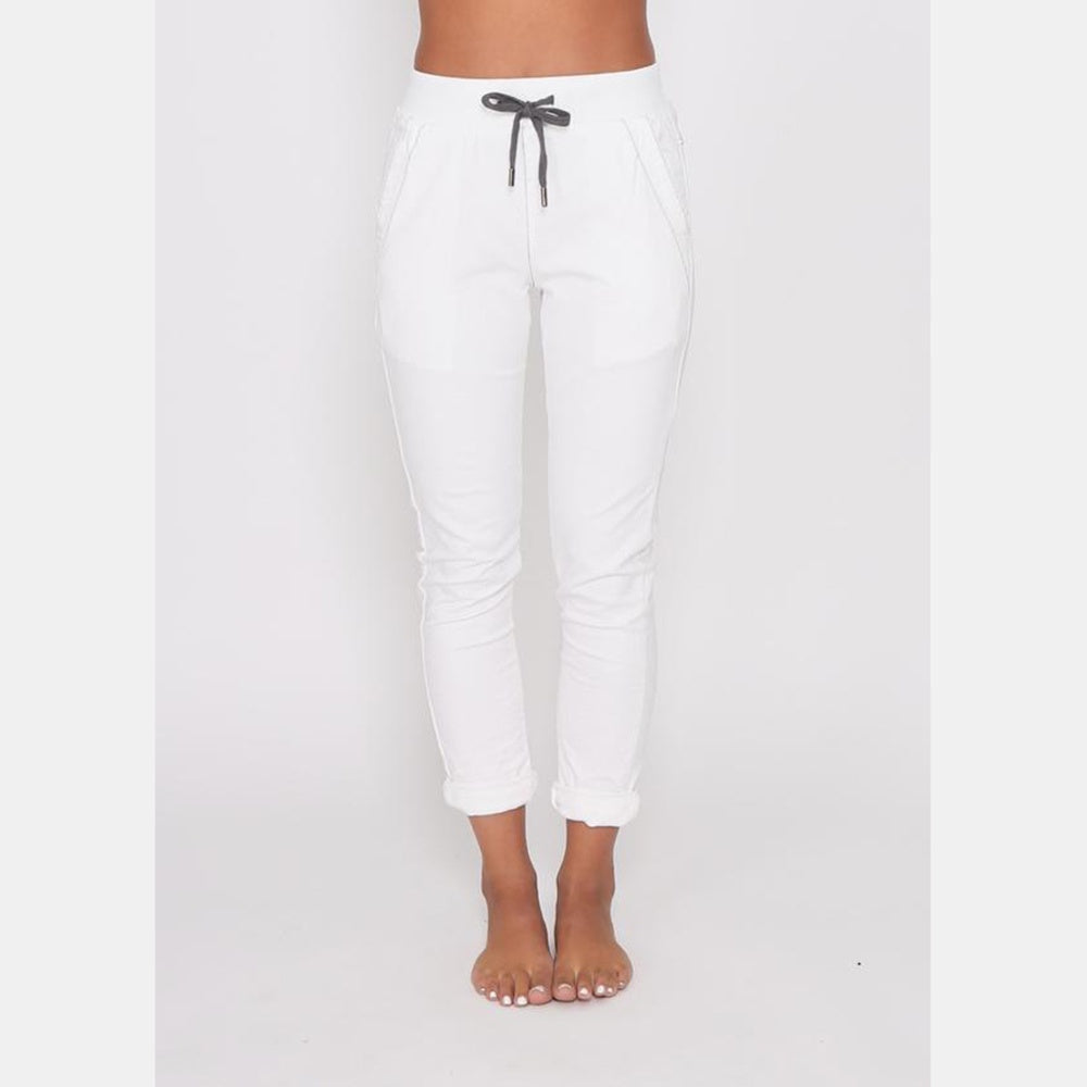 Monaco Jeans - Riley denim joggers - White