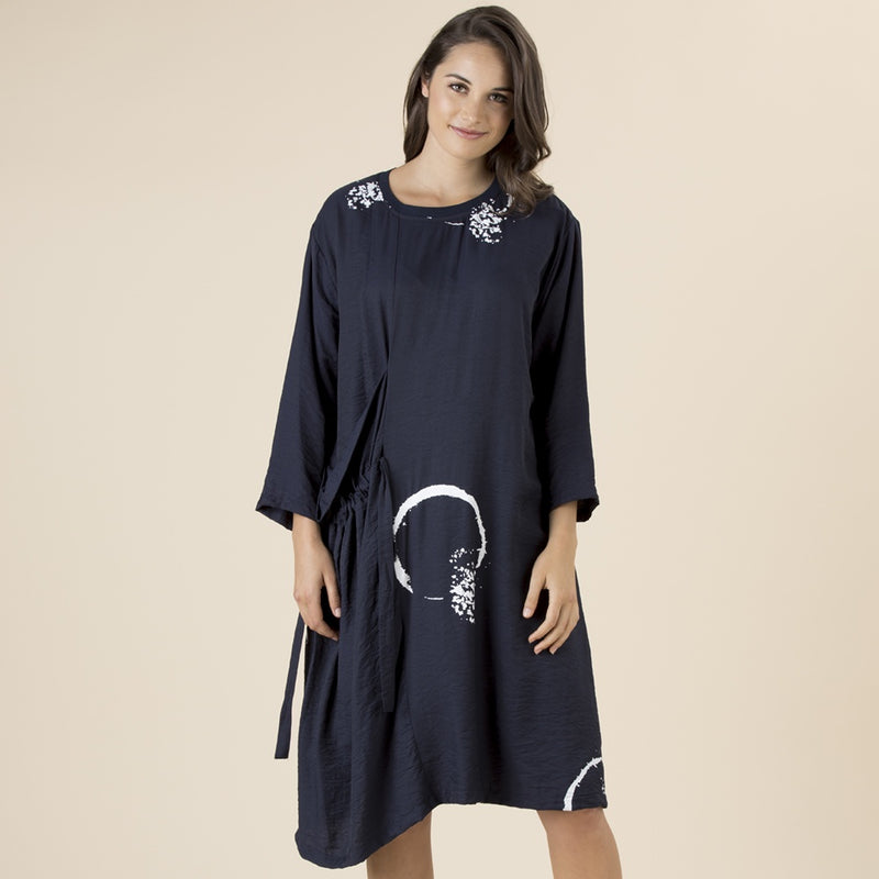 Clarity by Threadz - Print dress - Navy