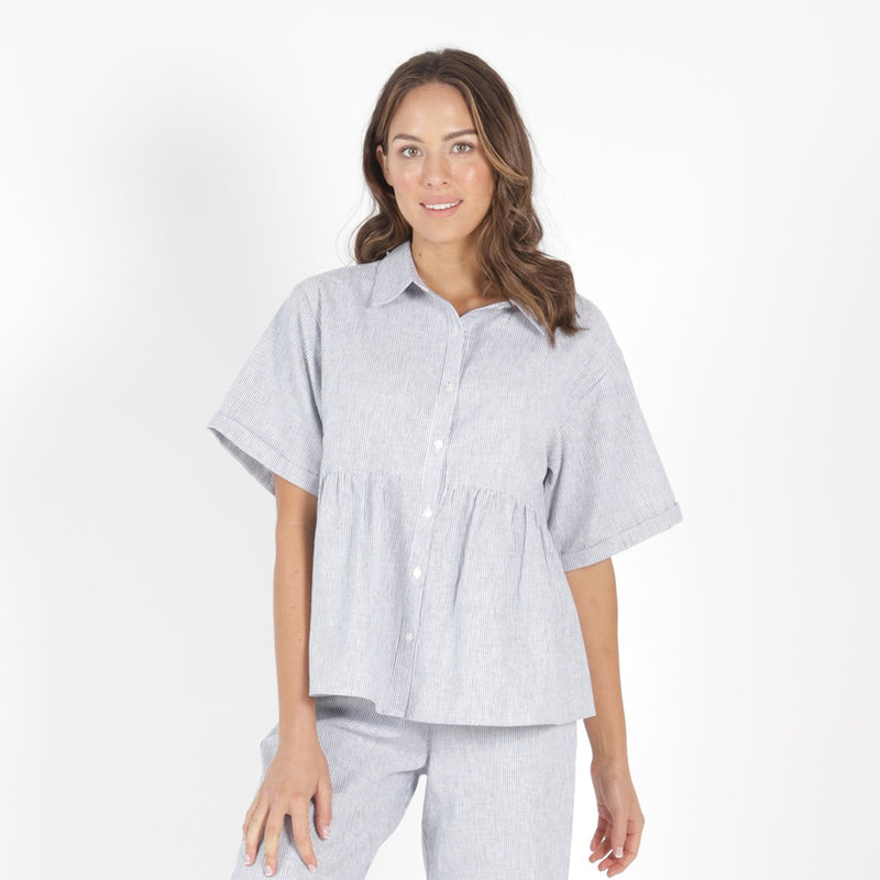 Betty Basics - Ross shirt - Pinstripe