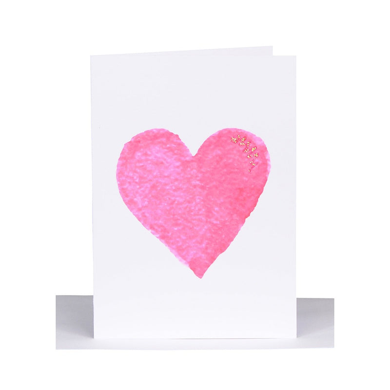 Lil's Cards - Blank small greeting card - Pink heart