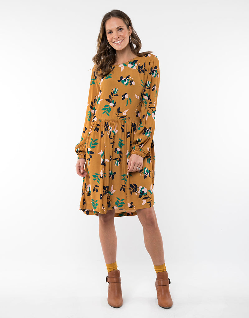 Elm Lifestyle - Freesia floral dress - Gold