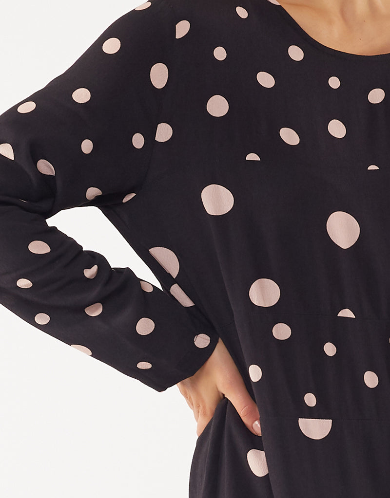 Elm Lifestyle - Holly spot dress - Black