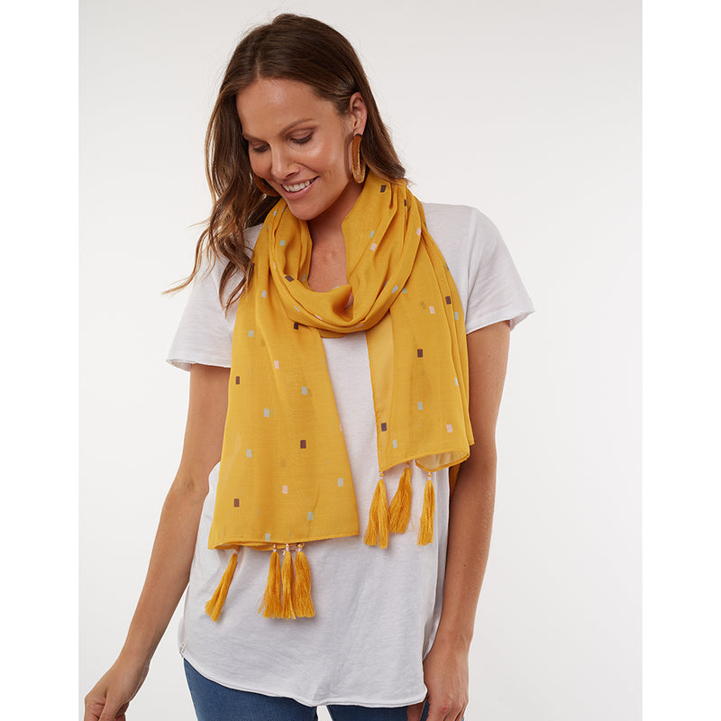Elm Lifestyle - Fair and Square scarf - Mustard