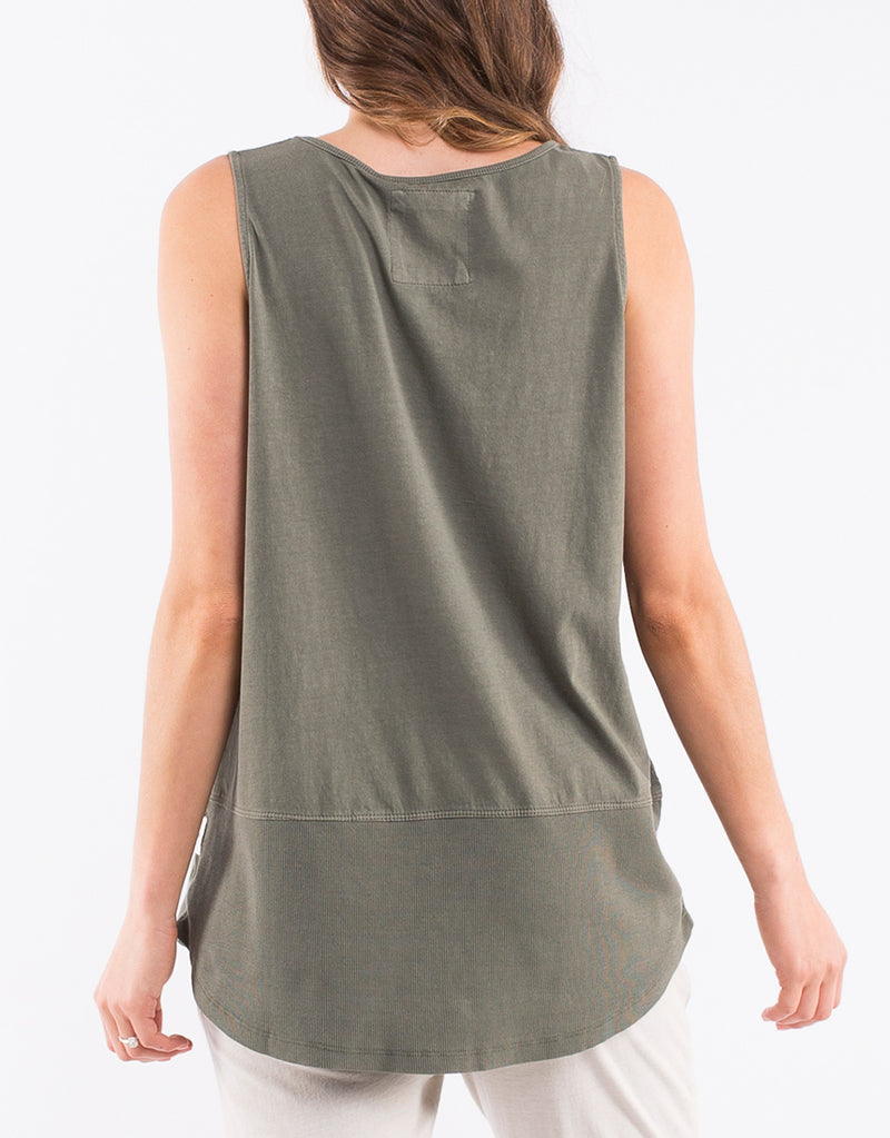 Elm Lifestyle - Fundamental rib tank - Khaki