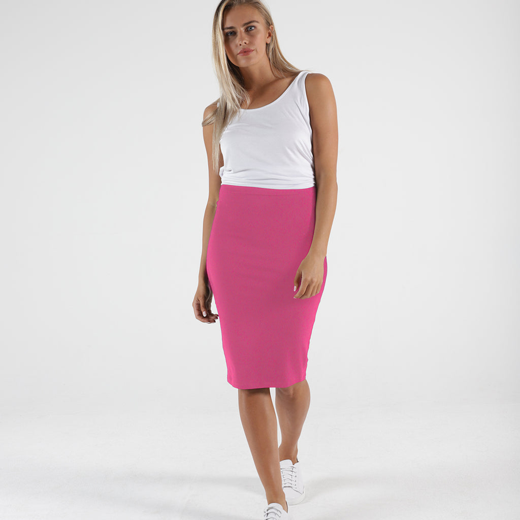 Betty Basics - Alicia midi skirt - Fuchsia
