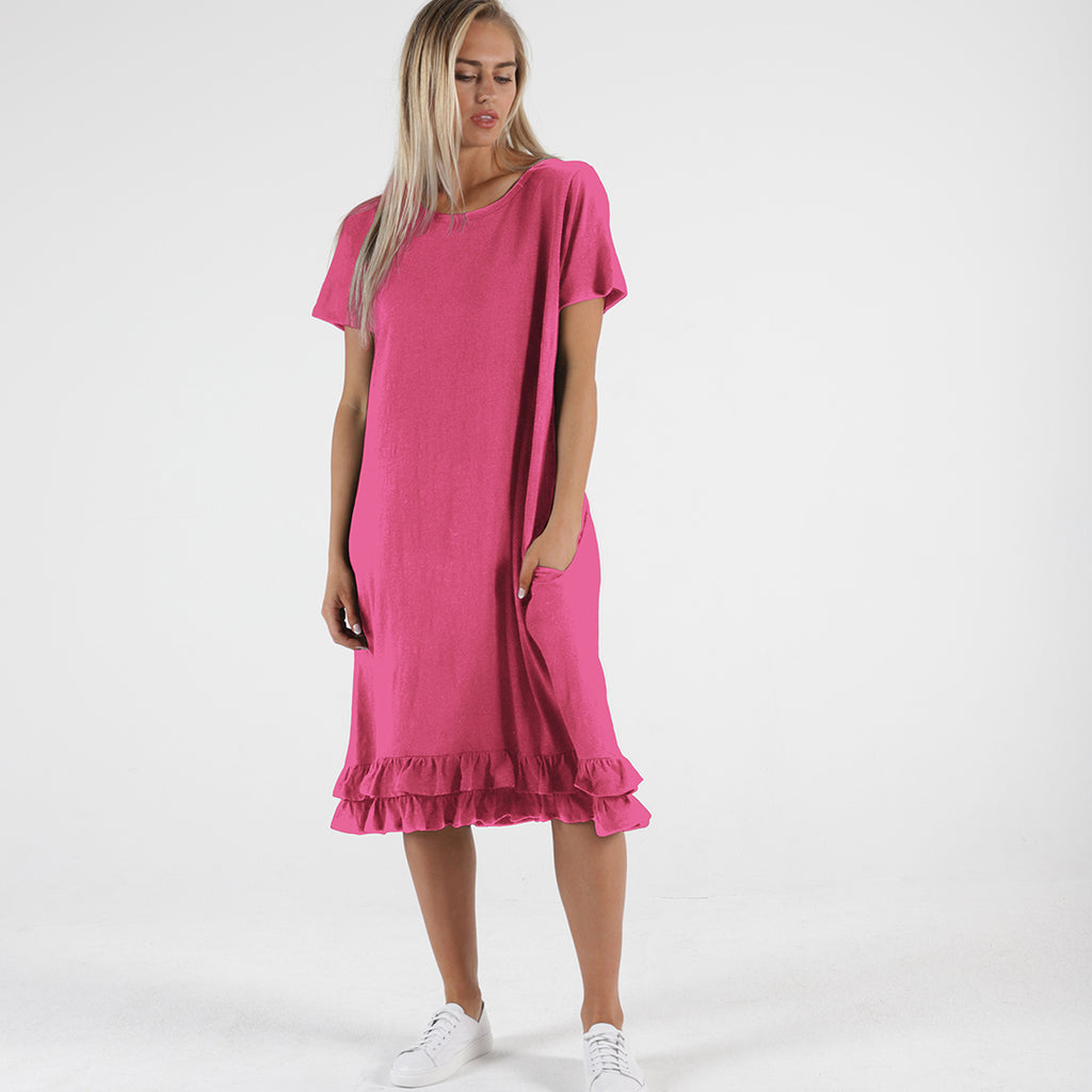 Betty Basics - Amber dress - Fuchsia