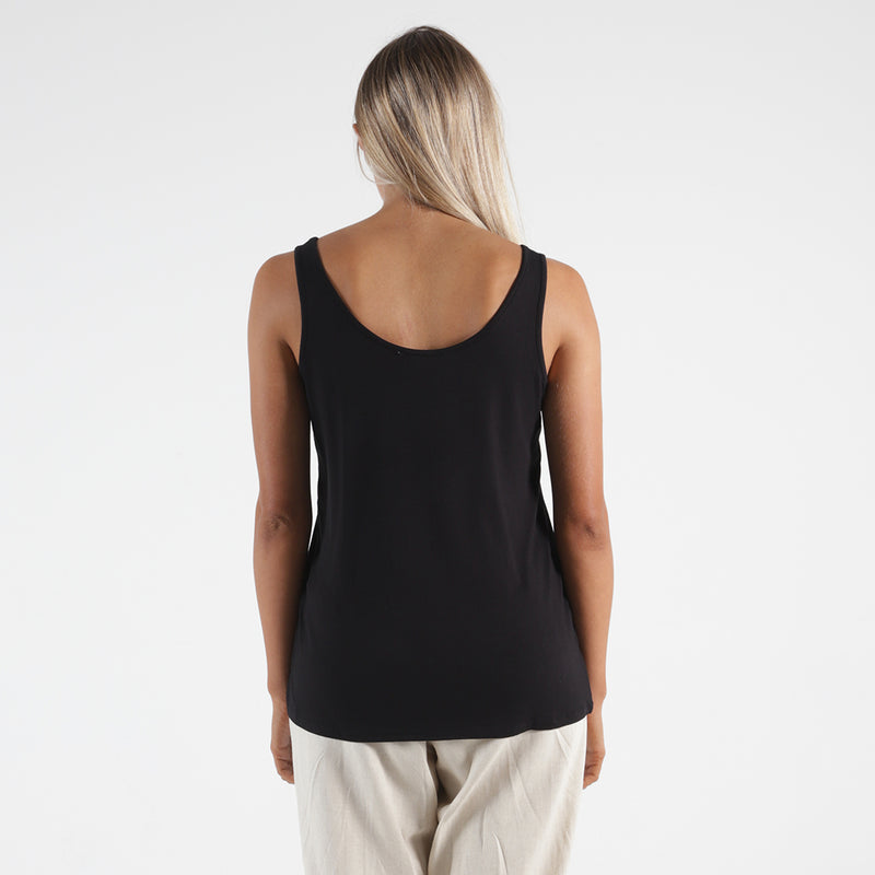 Betty Basics - Dallas reversible tank - Black