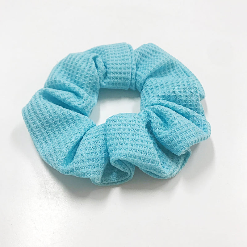 Moosegirl - Knit fabric solid scrunchy - Black, Yellow, Hot pink and Sky blue