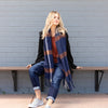 Betty Basics - Polar check scarf - Navy