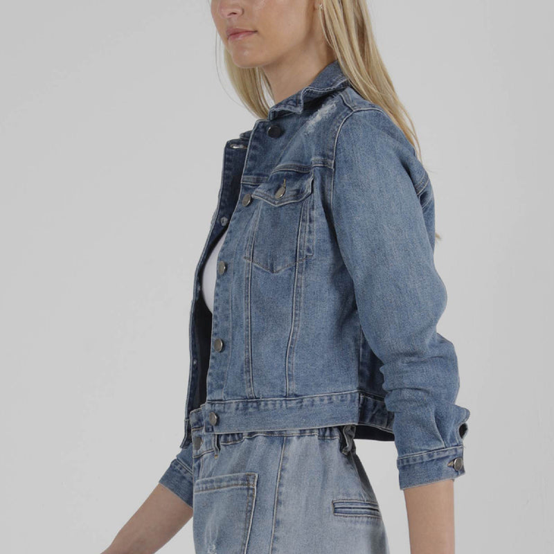 SASS - Maxie denim jacket - Indigo wash