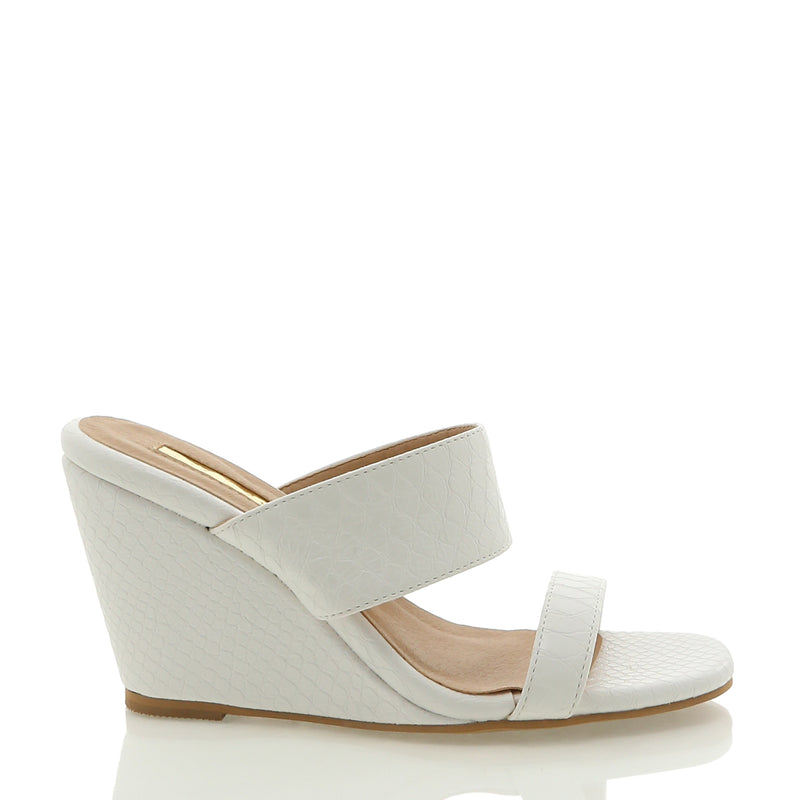 Billini - Tully wedge - White reptile