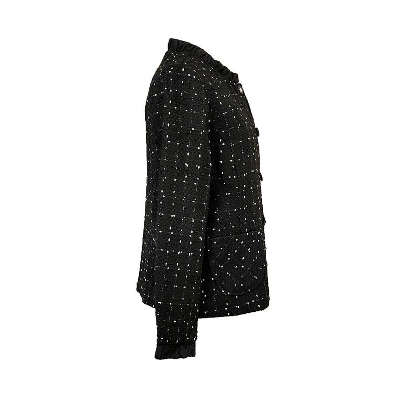 Yarra Trail - Textured check blazer - Black