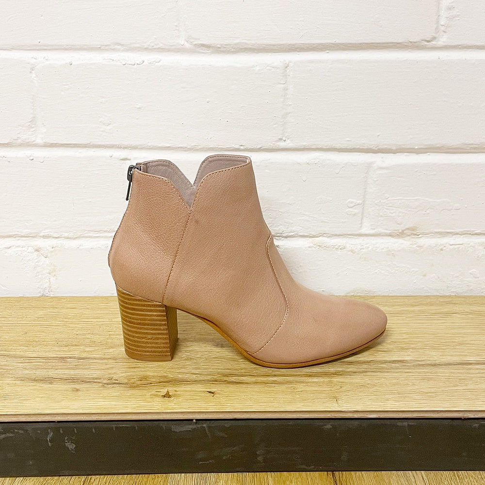 Top End - Upclimb leather ankle boot - Warm rose