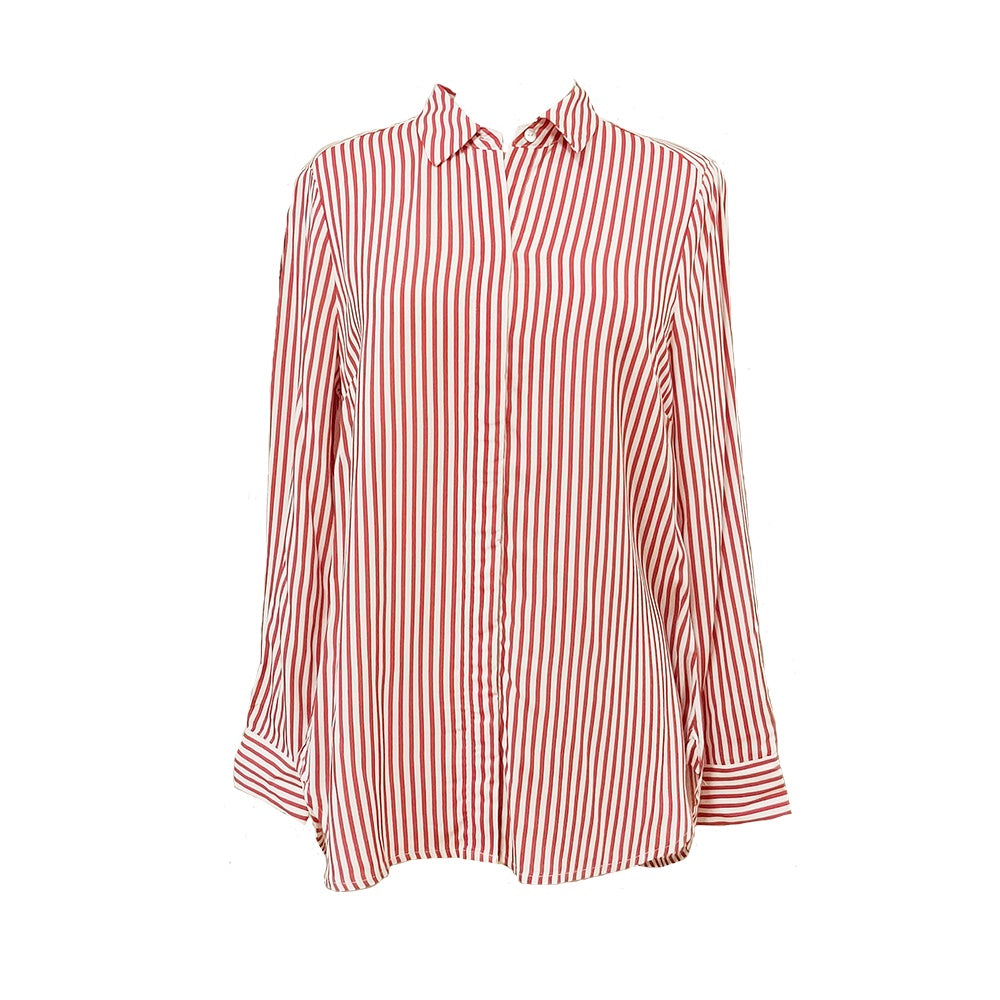 Jump - Stripe tunic shirt - Spice/White