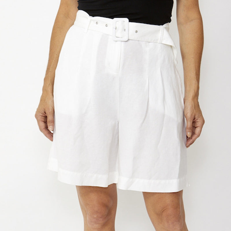Ping Pong - Belted pleat short - White