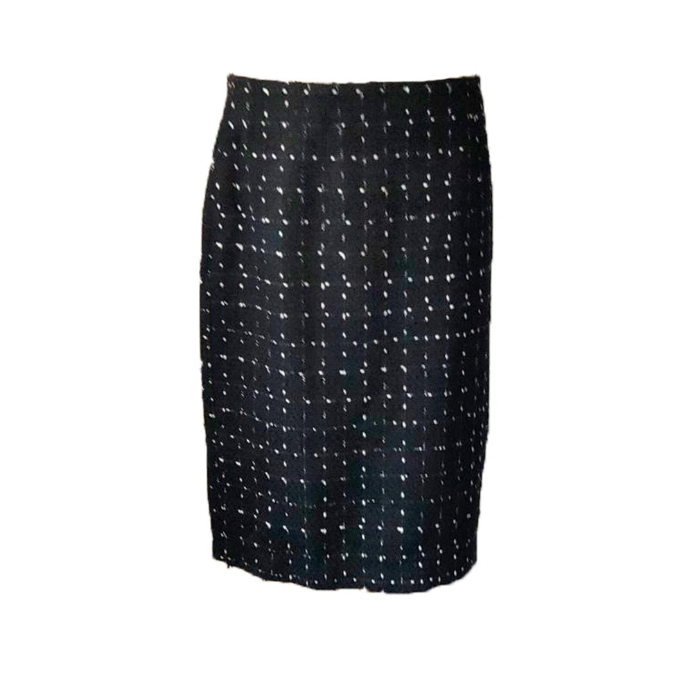 Yarra Trail - Textured check skirt - Black