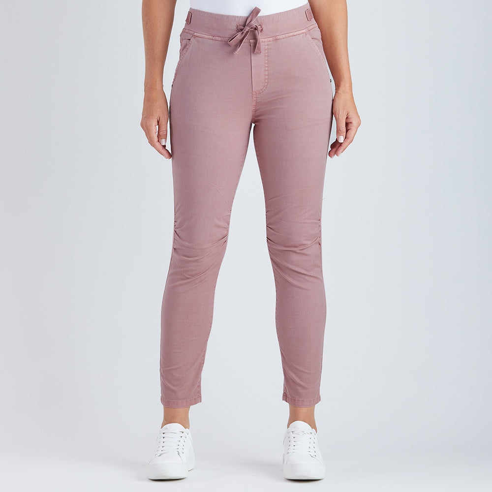 Threadz - Tie front gathered jeans - Dirty pink