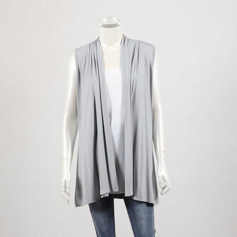 Bamboo by Whispers - Waterfall vest - Silver