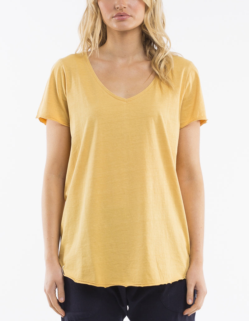 Elm Lifestyle - Fundamental vee tee - Yellow