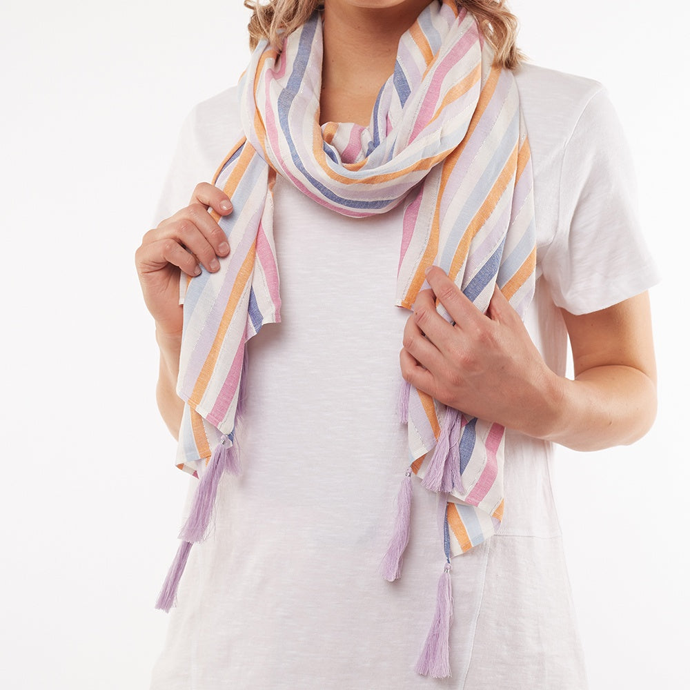 Elm Lifestyle - Sunset stripe scarf - Multi