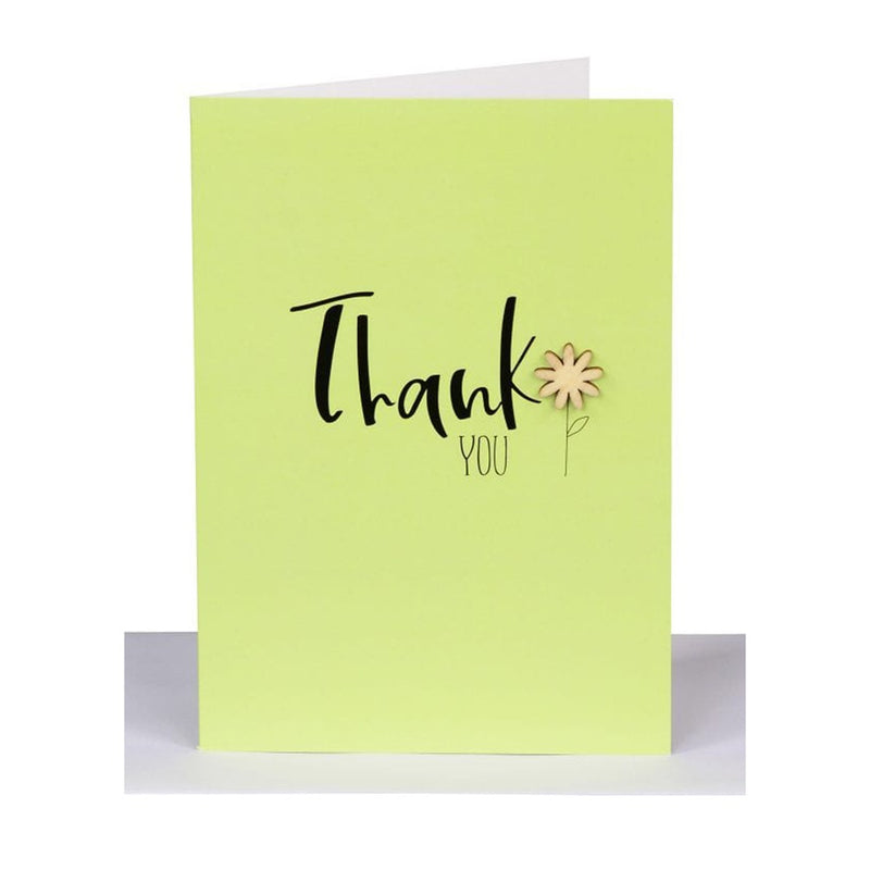 "Lil's Cards - ""Thank you"" greeting card - Lime"