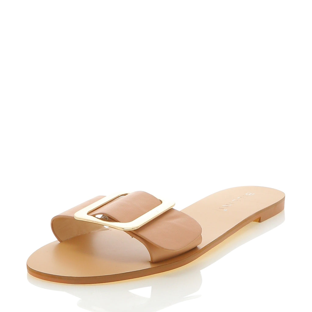Billini - Elias buckle slide shoe - Dark nude