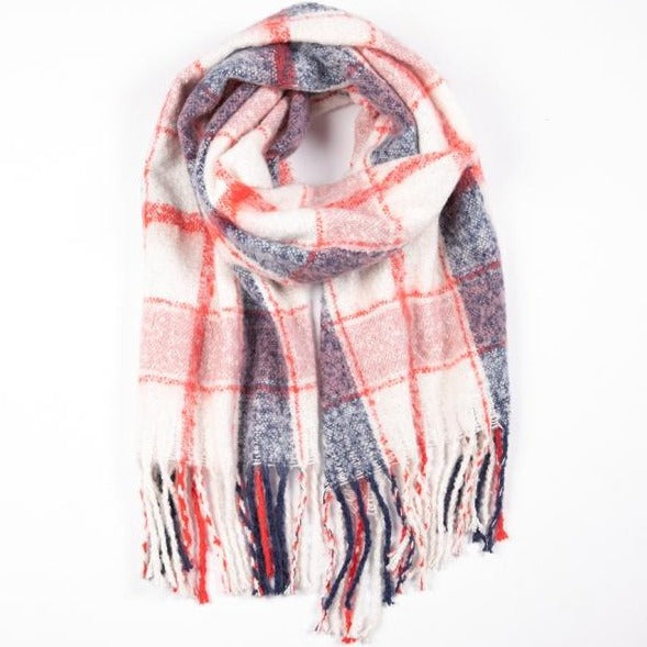 Betty Basics - Polar check scarf - Pink