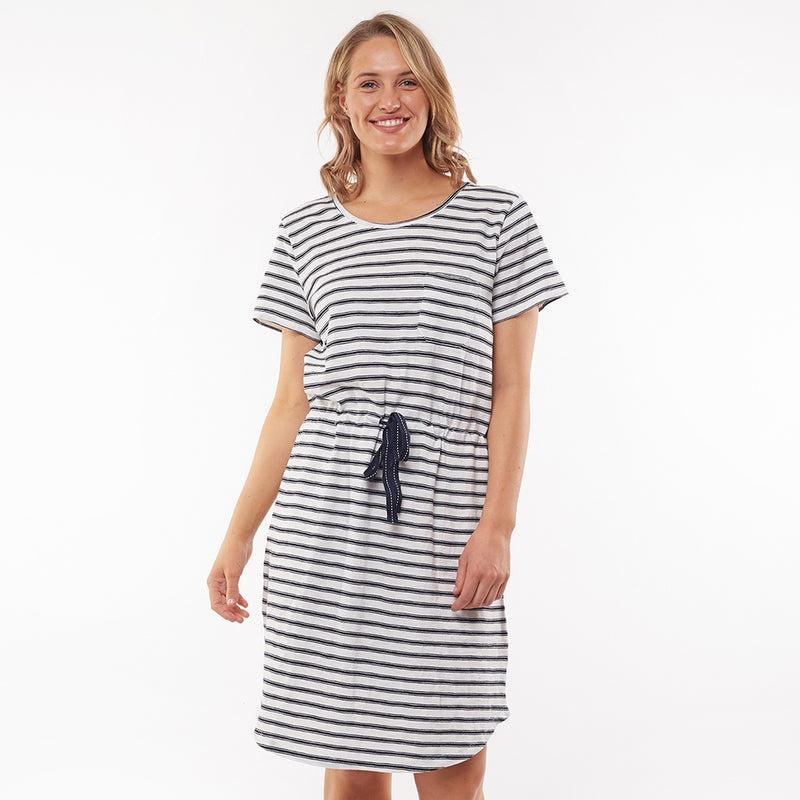 Elm Lifestyle - Hilda stripe dress - Navy/White stripe