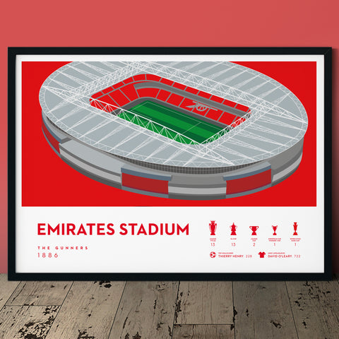 Arsenal Emirates Stadium the gunners football print poster
