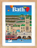 Bath vintage travel print