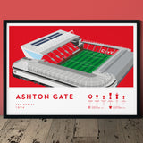 Bristol City Ashton Gate football print poster