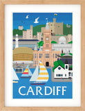 Cardiff, Wales Print poster - Bemmie