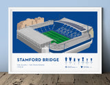 Football stadium ground print art poster Chelsea FC CFC Stamford Beidge