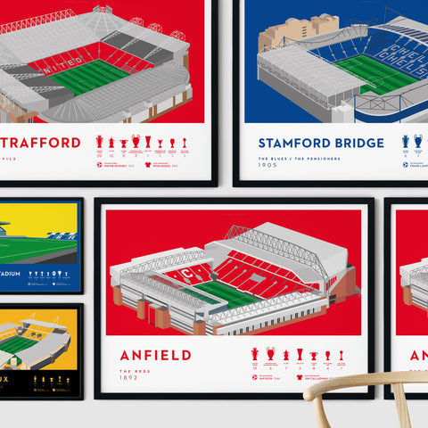Football stadium ground print art poster