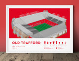 Football stadium ground print art poster Man United MUFC Old Trafford