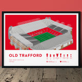 Manchester United Old Trafford football print poster art